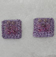 Lilac stud earrings by textile artist Mary Taylor