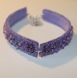 Lilac bangle by textile artist Mary Taylor
