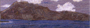 Clouds over Muck (textile by Mary Taylor)