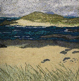 Bay Macneil, Ardnamurchan (14x28 cms £190) by textile artist Mary Taylor