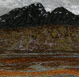 Blaven from Torrin beach, Skye (14x28cms £240) by Textile artist Mary Taylor