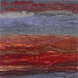 Cliff face, Perran beach, North Cornwall (12x36 cms £260) by textile artist Mary Taylor