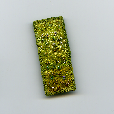 Lime brooch (2) by textile artist Mary Taylor