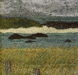 Marram grass on the northern end of Iona (12x25cms £190) by textile artist Mary Taylor
